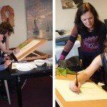 Workshop met Janneke Brinkman-Salentijn in Teylers museum 2015